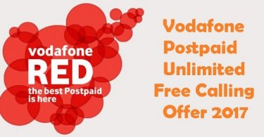 Vodafone Postpaid Free Calling Offer