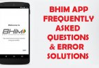 bhim app faqs and error solutions