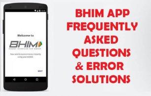 bhim app faqs and error solutions