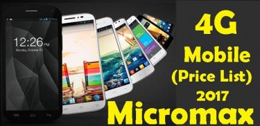 Micromax 4G Mobile Price List 2017