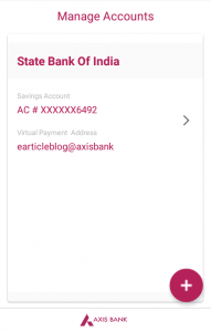 Axis Pay UPI linked bank account earticleblog