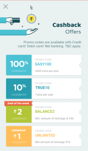Get Rs 10 Cashback On Mobile Recharge OF Rs 10 - True