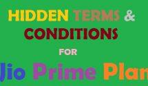 jio prime hidden terms conditions