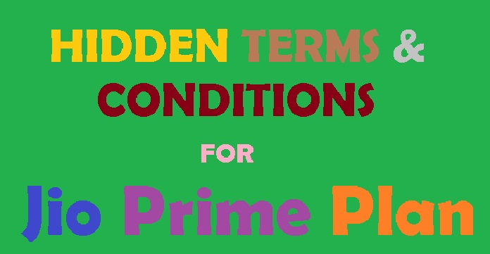 jio prime hidden terms conditions