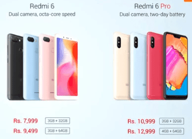 Redmi 6 Pro Price in India