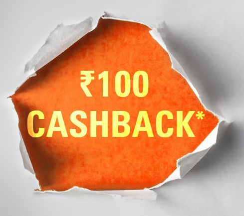 Rs.100 Cashback Offer