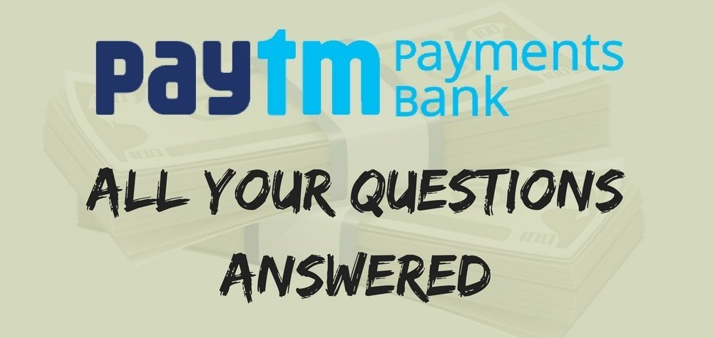 question answers Faq paytm bank