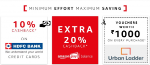 Amazon Fashion Wardrobe Refresh Sale is knocking the door. It is one of the biggest fashion sale on Amazon India. It is the ocean of deals and offers on fashion products. Get huge discounts on every fashion brands. This Fashion sale comes with many other mega offers. You have a golden chance to win exciting prizes. Amazon always gives us surprise and now they are going to rock the Fashion market with its new sale that is Fashion Wardrobe Refresh Sale. when we heard the word sale it sounds a like huge discount on products. Amazon Fashion Wardrobe Refresh Sale is both for male and female of all ages. Age is just a number so feel free to shop stylish fashion products. Here you will get everything like dresses for women, men, Watches, Bags, Jewellery, Sportswear, Sunglasses, shoes and much more.Now dress up every daywith new style Amazon Biggest fashion sale of the year starts on 23 June 2017. It will be one of the biggest fashion sales of the year 2017. Here we will provide you the best deals on the sale. Deals which you can't ignore. There are other few big offers on the Amazon Fashion Wardrobe Refresh Sale. These are: Win Rs-1 Lakh Amazon pay balance, win Fashion Wardrobe worth Rs-20,000. and get a voucher worth Rs-2Lkah from Urban Ladder. Let's discuss one by one. Other Offers OnFashion Wardrobe Refresh Sale (Mega Offer) 1) Win Amazon Pay Balance worth Rs-1 Lakh. Here is a golden opertunity to win amazon pay balance worth Rs-1 Lakh on Amazon Fashion Wardrobe Refresh Sale. Shop onAmazon Fashion Wardrobe Refresh Sale and get a chance to win this amazon pay balance. 2)Win a Fashion Wardrobe worth Rs-20,000. You can also winFashion Wardrobe worth Rs-20,000 on this sale. Try your best luck to win prizes. 3) Get a Home Makeover voucher from Urban Ladder worth Rs-2 Lakh The last and the most expensive mega offer onAmazon Fashion Wardrobe Refresh Salel. Here you will get a home makeover voucher from one of the most popular company Urban Ladder. The voucher worth Rs-2 Lakh. 