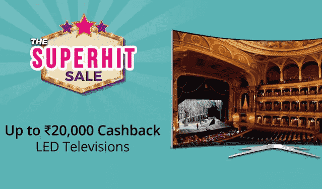Paytm mall tv 20000 cashback