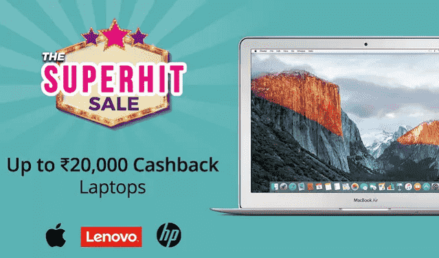 paytm mall laptop 20000 cashback
