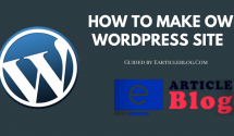 How to Make Own WordPress Site