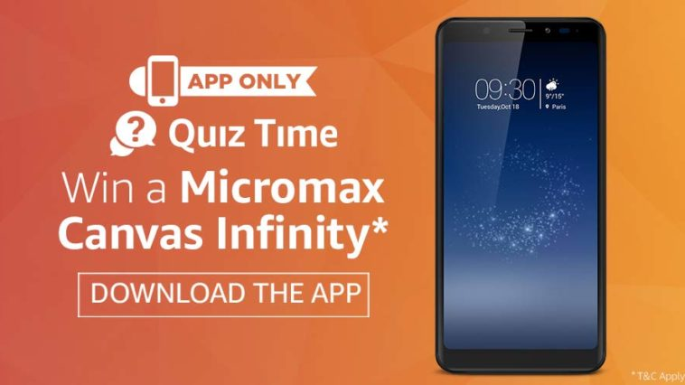 micromax canvas quiz answer
