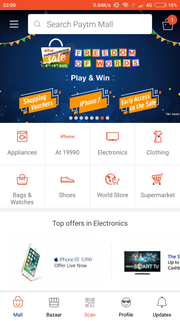 paytm mall free 500rs voucher