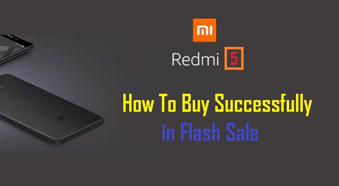 Buy Online Redmi 5 Flash Sale