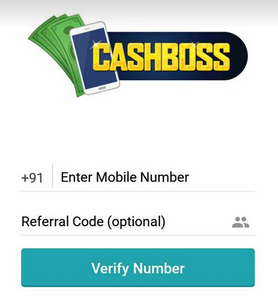 CashBoss - Free Recharge App - Rs 20 per refer [Redeem on Paytm