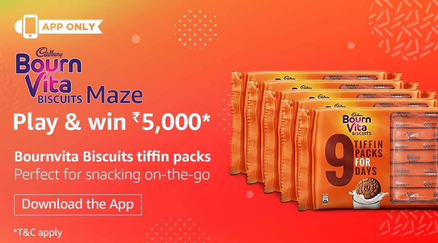 Amazon Bournvita Maze Quiz