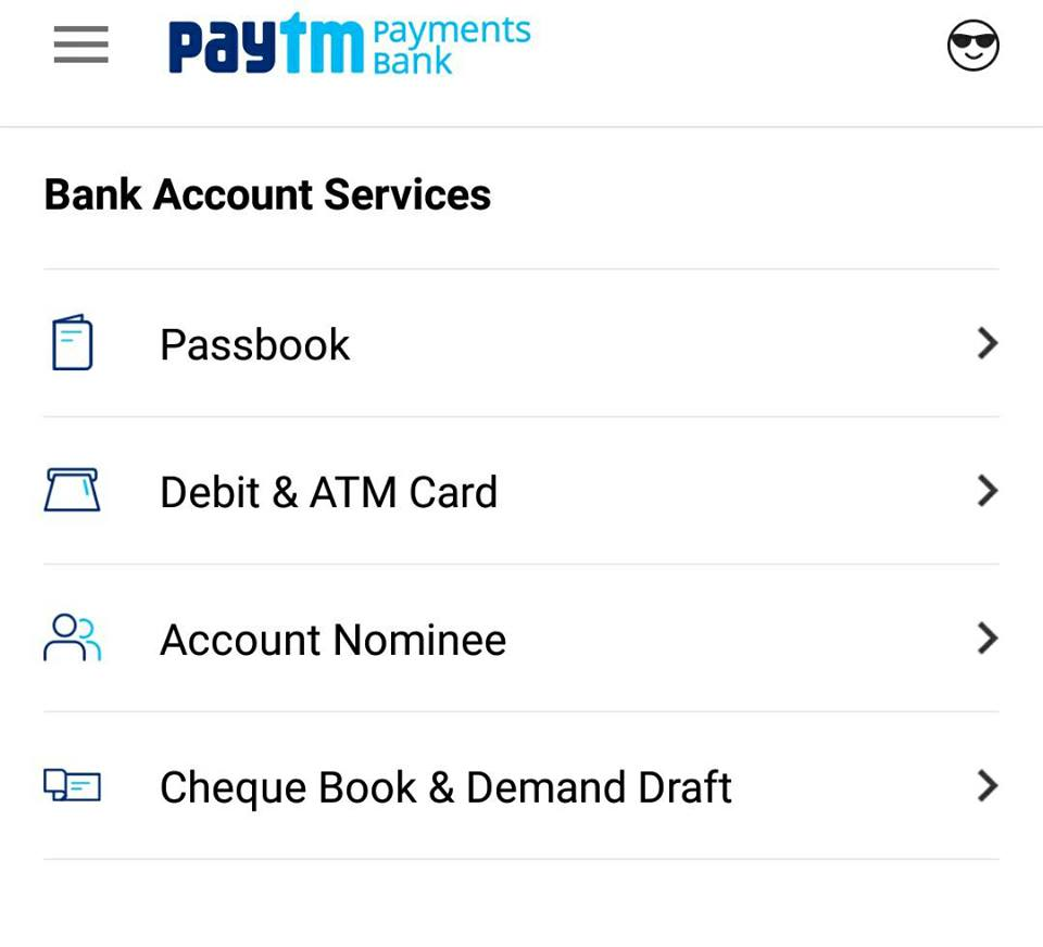 Paytm Bank Services