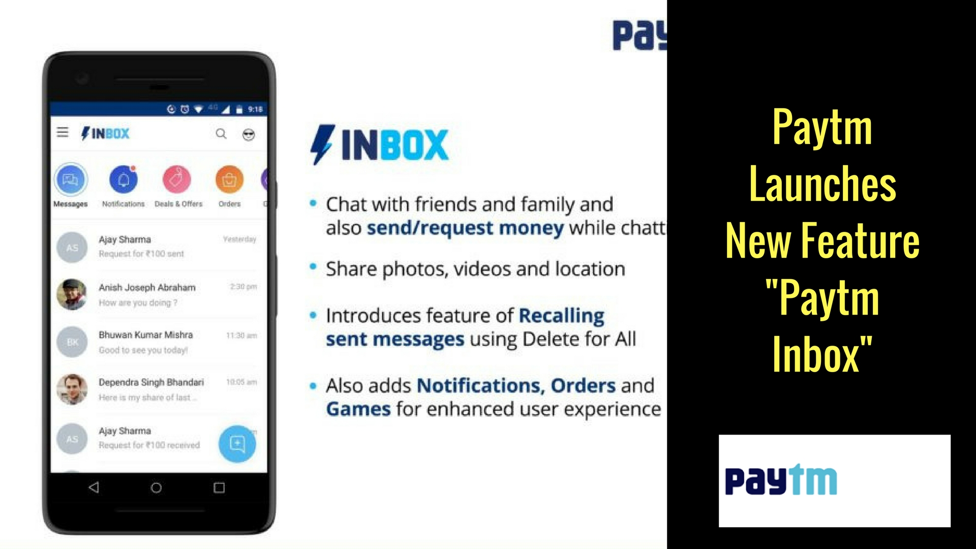 Paytm Has Launched 'Inbox'