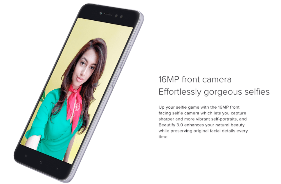 Redmi Y1 16 MP Selfie Camera
