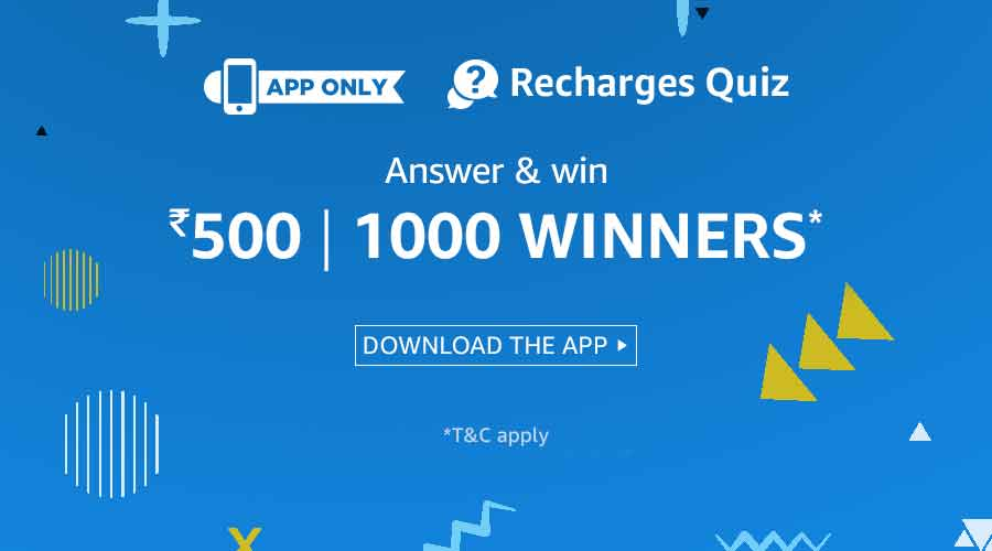 amazon Recharge Quiz Answers