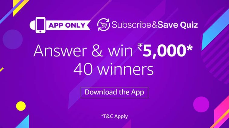 Amazon Subscribe & Save Quiz Answers