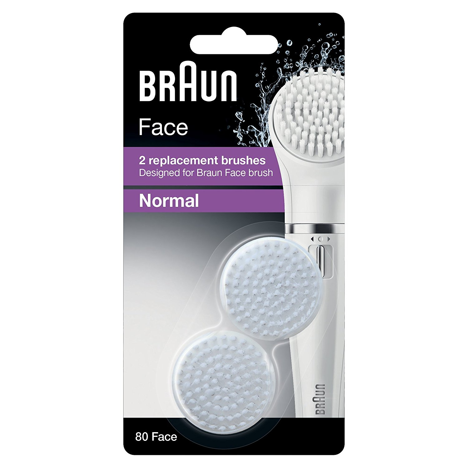 Braun Face 80 - Pack of 2 Brush Refills - Designed for Braun Face Cleansing Brush