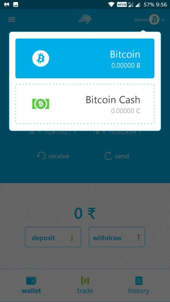 Zebpay added bitcoin cash