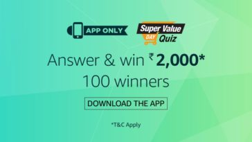 amazon Super value day quiz