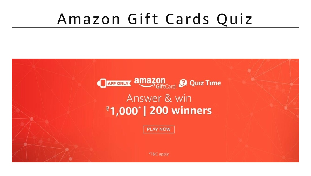 amazon gift card quiz answers
