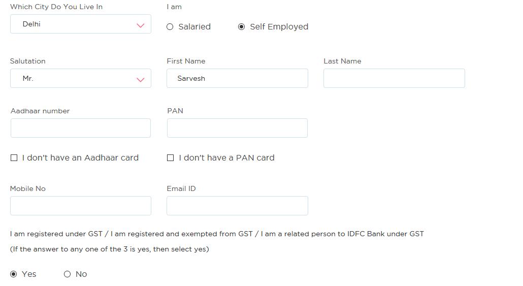 IFDC Bank Account form