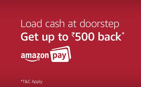 Amazon Pay Balance Cash-Loads At Doorstep! Get 20% Cashback Upto Rs 500!