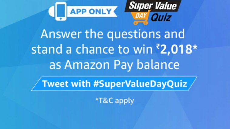 Amazon Super value Day quiz