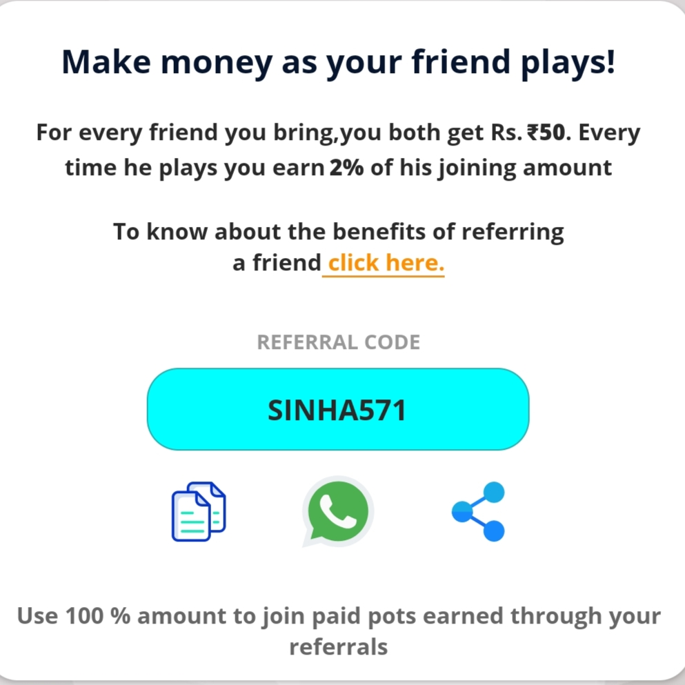 Playerzpot Refer code