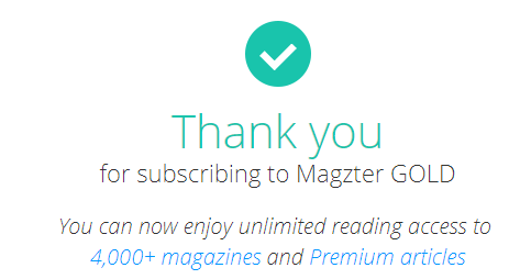 Magzter Gold Subscription Offer