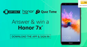 Amazon Honor 7X Quiz Answers