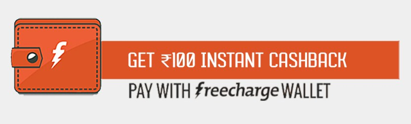 Freecharge - Get Rs 100 Instant Cashback On Evibe