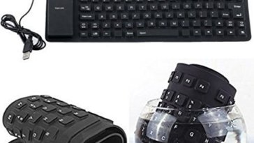 103 Keys Silicone Rubber Waterproof Flexible & Foldable Wired USB Keyboard For Laptop, PC