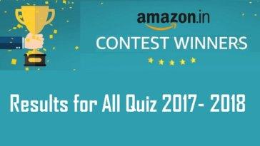 Amazon Contest Winners List
