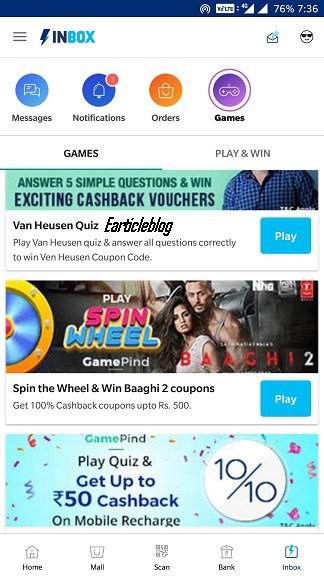 Paytm Spin and Win 1