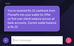 PhonePe Offer Rs 20