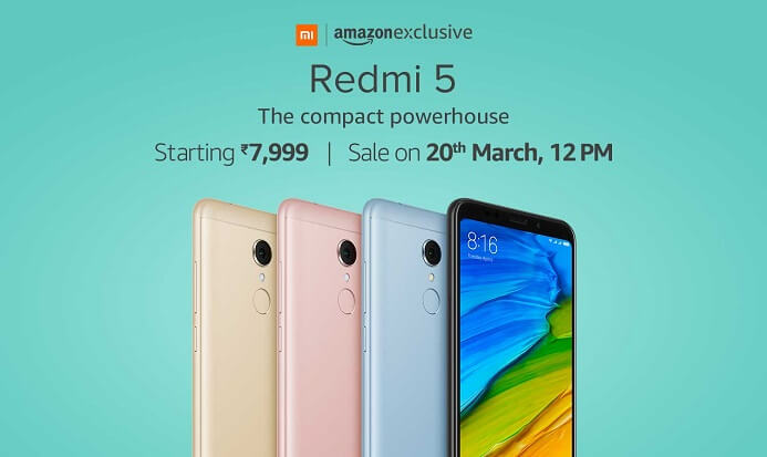 Redmi 5 Amazon Flash Sale
