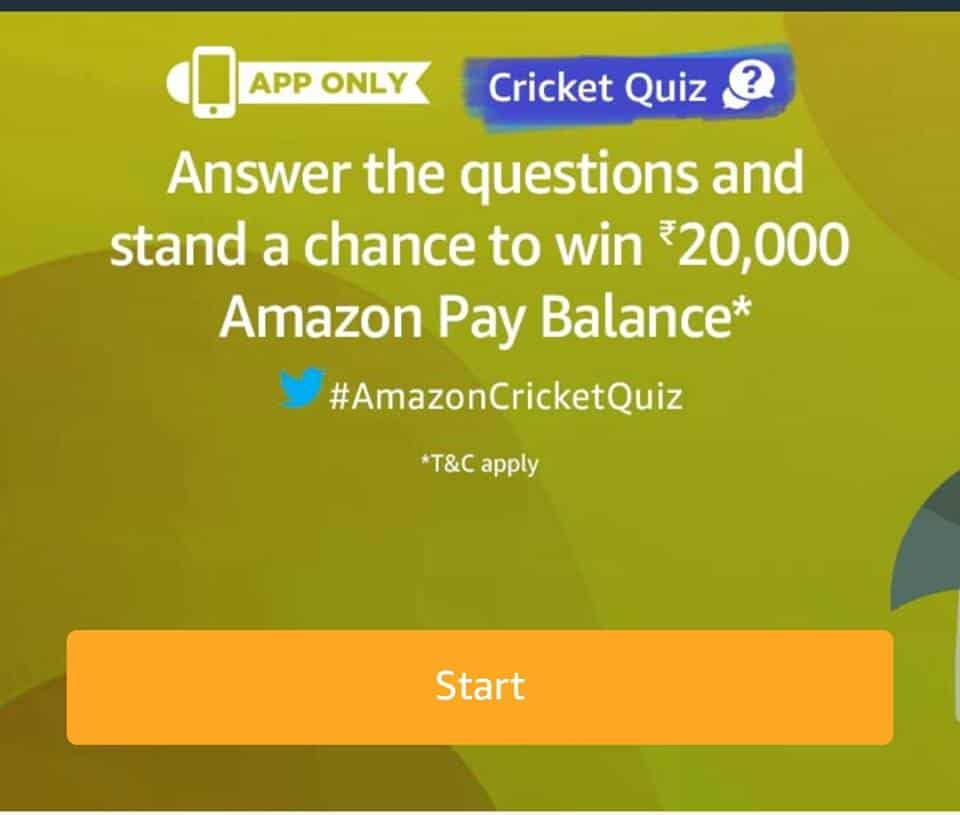 Amazon Cricket Quiz Answer