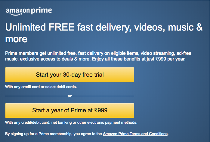 Amazon Prime Membership Free For 30 Days