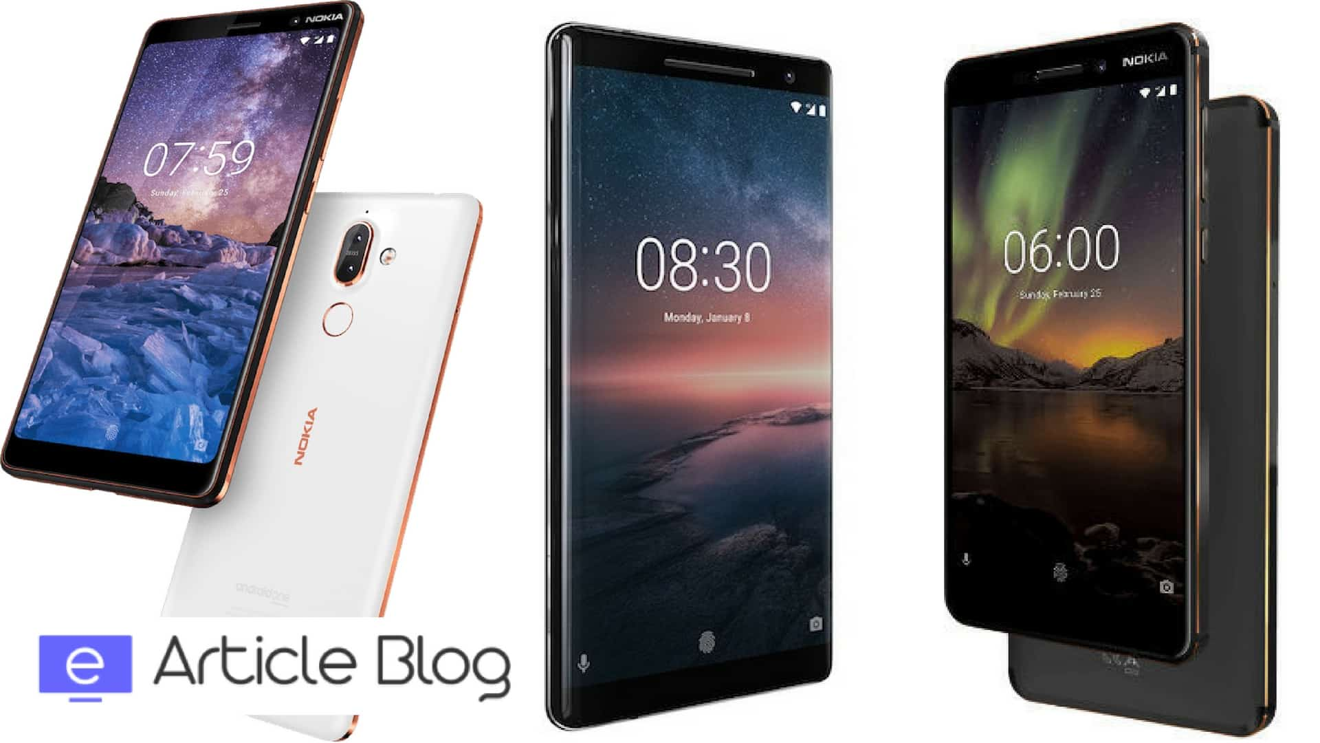 Nokia 6 (2018), Nokia 7 Plus, Nokia 8 Sirocco Launched in India: