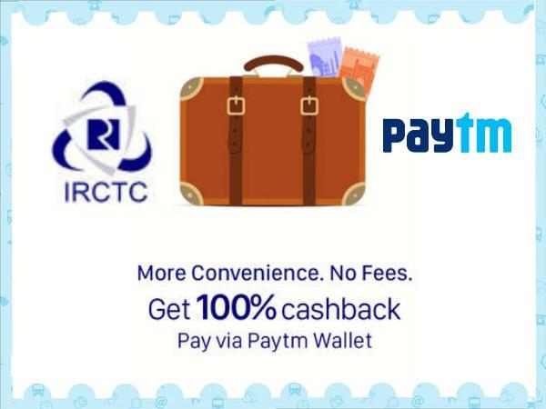 Paytm IRCTC Offer