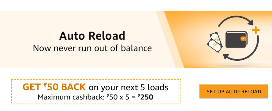 Amazon Pay Auto Reload Offer