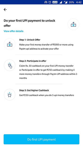 Free Paytm Cash Offer Details