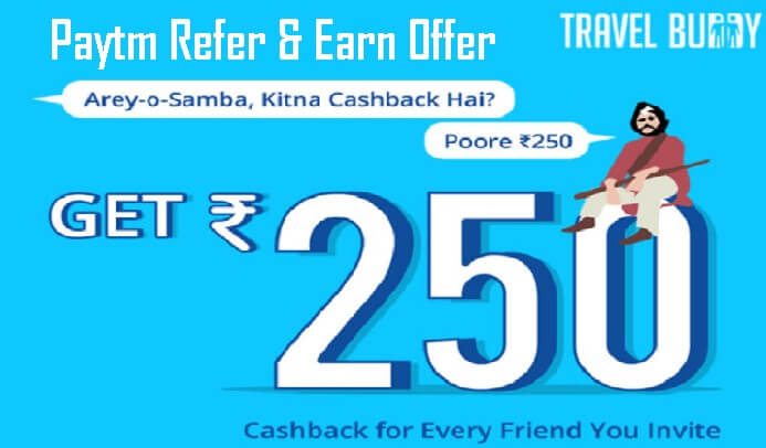 Paytm Travel Buddy Referral Program