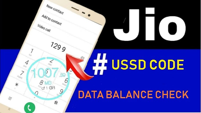 jio data balance check number