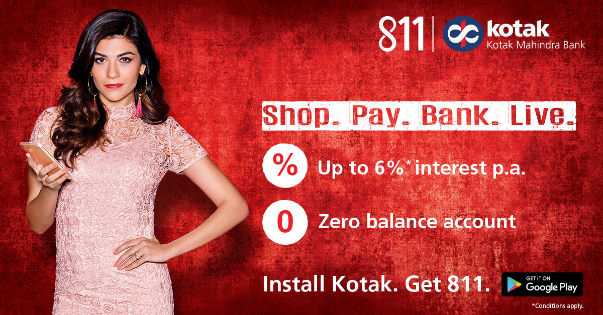 Back Again Open Zero Balance Kotak 811 Bank Account Online Hot